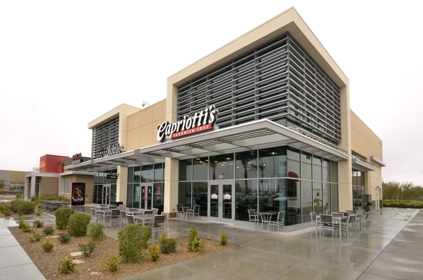 The exterior of Capriotti´s Downtown Summerlin location at 11010 Lavender Hill Drive in Las Vegas is shown Tuesday, Jan. 5, 2016. Bill Hughes/Las Vegas Review-Journal