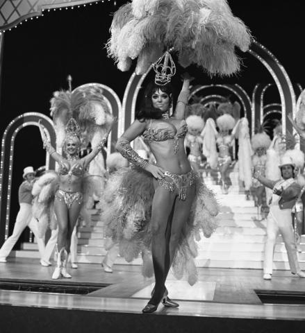 Folies at the Tropicana, Felicia Atkins, lead showgirl. 5-24-72.