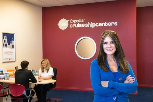 Brenna Maurer takes a break from booking cruise vacations at Expedia Cruise Ship Centers in this undated photo. The Las Vegas franchise is seeing an uptick in business as the Las Vegas economy slo ...