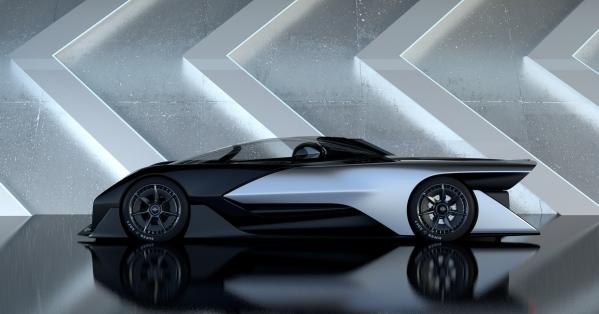 Exterior of Faraday Future vehicle. (Photo provided by Faraday Future)