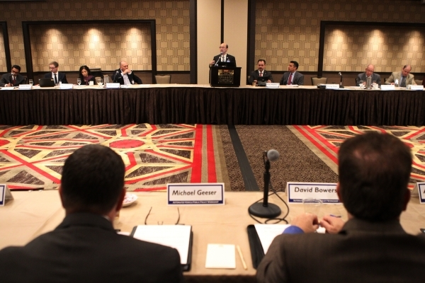 King Gee, director of engineering and technical services at the American Association of State Highway and Transportation Officials, speaks during the Automated Vehicle Public Policy Workshop at th ...