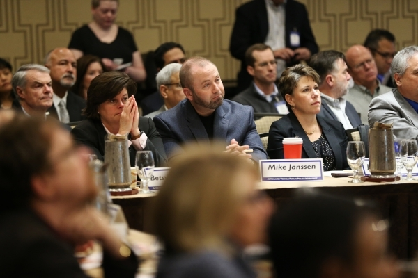 Attendees listen during the Automated Vehicle Public Policy Workshop at the Golden Nugget casino-hotel Tuesday, Jan. 5, 2016, in Las Vegas. Erik Verduzco/Las Vegas Review-Journal Follow @Erik_Verduzco