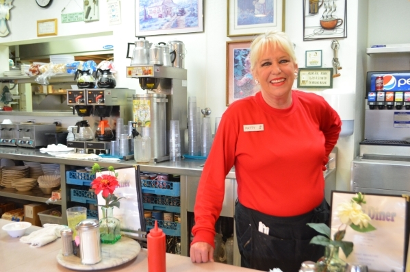 Patty Misuraca helps make the from-scratch chicken noodle soup at Lou's Diner, 431 S. Decatur Blvd., using the same recipe restaurant founder Louise Lauber perfected. Ginger Meurer/Special t ...