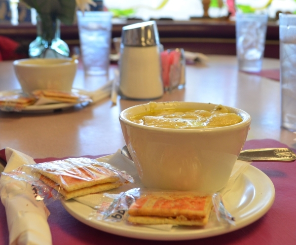 The chicken noodle soup packed with hand-cut noodles and big chunks of chicken in hand-simmered stock is still a staple on Tuesdays and Sundays at Lou's Diner. Ginger Meurer/Special to View