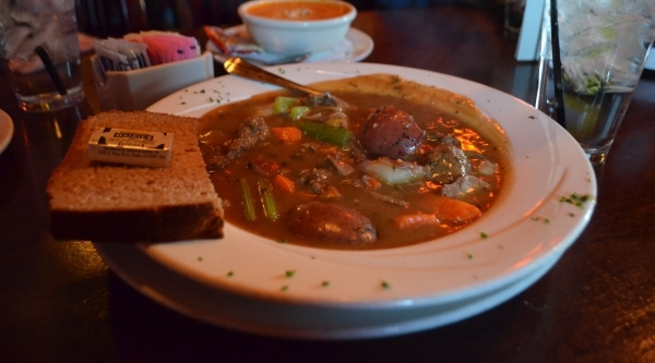 Diddy's Irish Stew, a main dish soup filled with braised lamb, potatoes and assorted vegetables, is a popular menu item at McMullan's Irish Pub, 4650 W. Tropicana Ave. Ginger Meurer/Sp ...