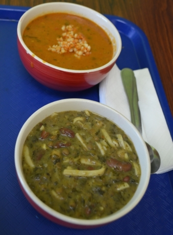 Presto Cafe, 4950 S. Rainbow Blvd., stocks aush soup every day. The hearty Afghan dish, made from scratch by the owner's mother, features seven greens, three beans and wheat noodles. Soups o ...