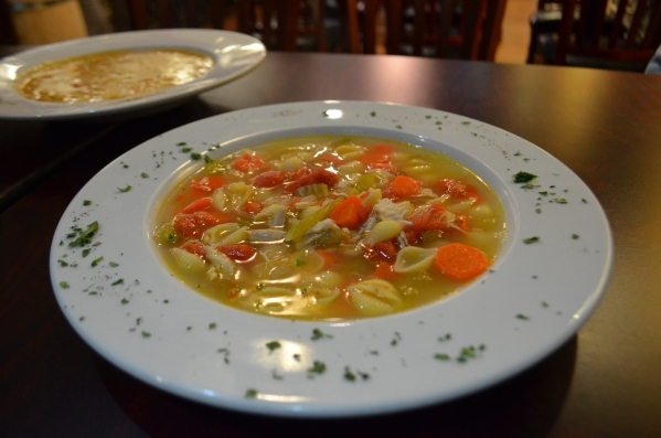 Chicken noodle soup is among the soups of the day offered periodically at Spaghetty Western, 10690 Southern Highland Parkway, Suite 103. Ginger Meurer/Special to View