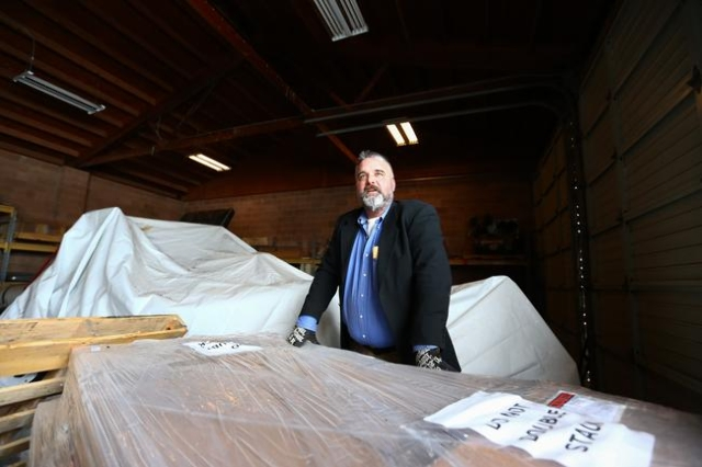 Anti-government protestor Jason Patrick talks with reporters in a building at the Malheur National Wildlife Refuge headquarters, which the group is occupying, near Burns, Ore. on Monday, Jan. 4, 2 ...