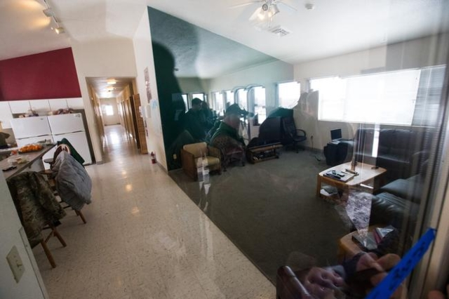 Living quarters are shown at the Malheur National Wildlife Refuge headquarters, which is occupied by anti-government protestors, near Burns, Ore. on Monday, Jan. 4, 2016. The protestors, many of t ...