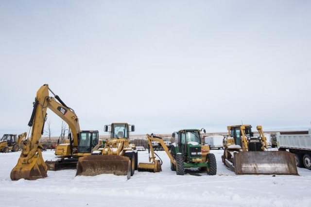 Heavy equipment is shown at the Malheur National Wildlife Refuge headquarters, which is occupied by anti-government protestors, near Burns, Ore. on Monday, Jan. 4, 2016. The protestors, many of th ...