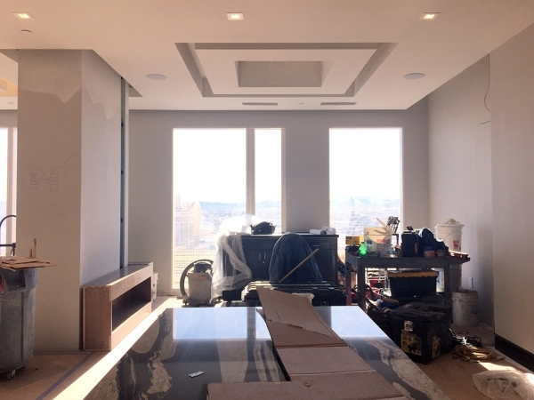 BEFORE: Mandarin Oriental's unit No. 4101 will be listed on the market by the end of this month. It measures 2,126 square feet. This is the dining room before the design. COURTESY