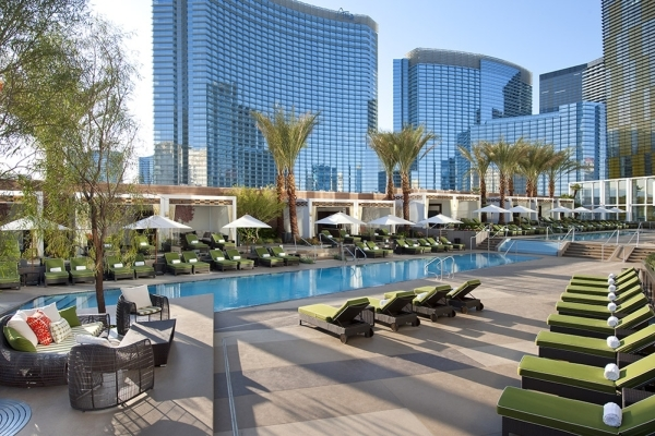 Residents have access to the pool at Mandarin Oriental on the Las Vegas Strip. COURTESY