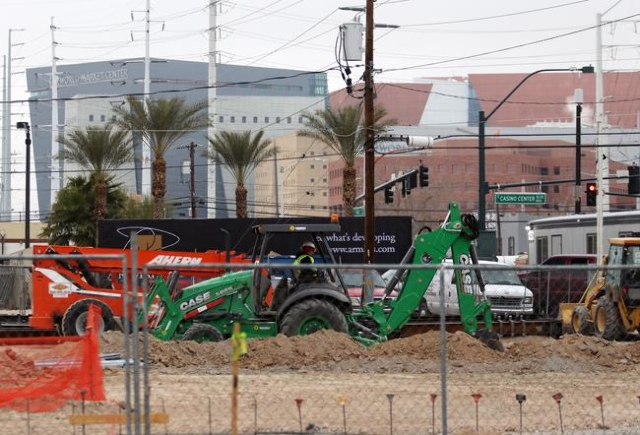 Construction takes place for the Eclipse Theaters project at 814 S. Third St. downtown Tuesday, Jan. 5, 2016, in Las Vegas. Ronda Churchill/Las Vegas Review-Journal