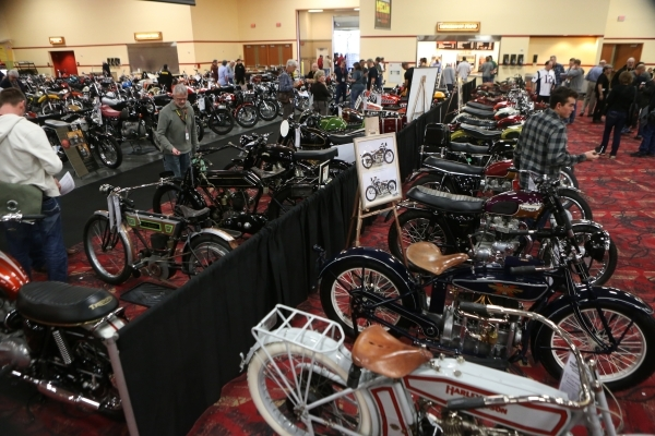 The showroom floor for the Mecum Auctions event at South Point casino-hotel is seen on Saturday, Jan. 9, 2016, in Las Vegas. Erik Verduzco/Las Vegas Review-Journal Follow @Erik_Verduzco