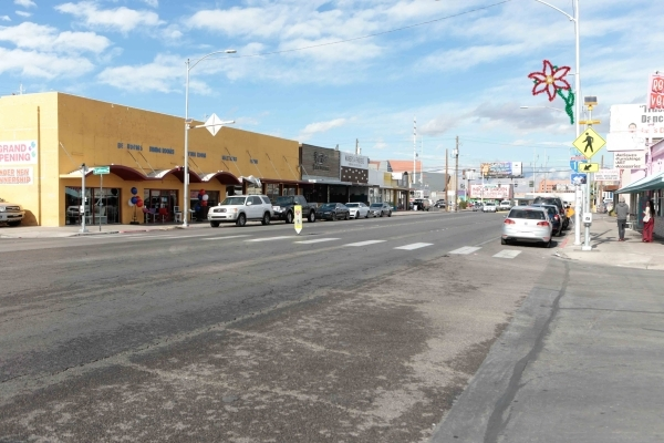 South Main Street is shown looking north from West California Avenue in Las Vegas on Wednesday, Jan. 6,  2016. (Donavon Lockett/Las Vegas Review-Journal)