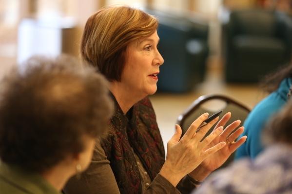 Victoria Courvoisier comments during a bible study session at Desert Springs United Methodist Church Thursday, Jan. 7, 2016, in Las Vegas. Rachel Aston/Las Vegas Review-Journal Follow @rookie__rae