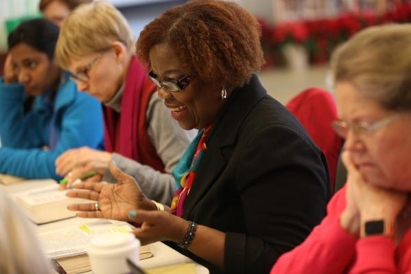 Claribel Williams comments during a bible study session at Desert Springs United Methodist Church Thursday, Jan. 7, 2016, in Las Vegas. Rachel Aston/Las Vegas Review-Journal Follow @rookie__rae