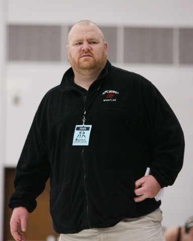 2012-13 Pacific University wrestling coach Severin Walsh. Photo courtesy Pacific University.