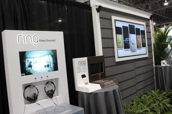Ring Video Doorbell is shown during CES. It allows people to monitor who is at the front door. (Michael Lyle/Las Vegas Review-Journal)