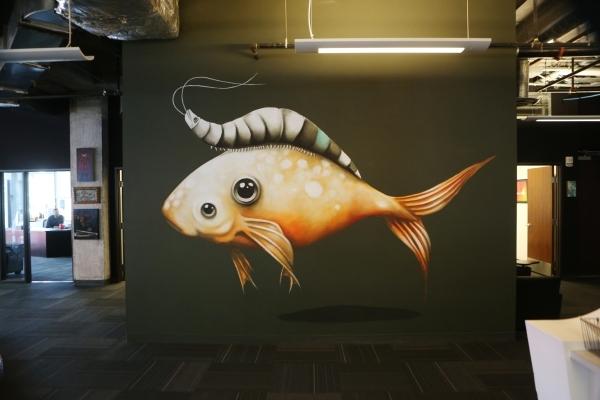 A mural is seen inside the Life is Beautiful headquarters on Friday, Jan. 8, 2016, in Las Vegas. Erik Verduzco/Las Vegas Review-Journal Follow @Erik_Verduzco