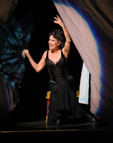 """Lucie Arnaz as Berthe on the opening night of """"Pippin"""" at The Smith Center for Performing Arts in Las Vegas Tuesday, Nov. 25, 2014. The Tony-winning revival runs through Sunday. (K.M. Ca ..."""