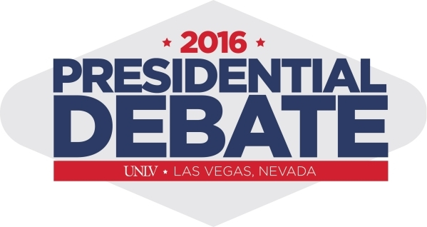 A logo for the upcoming presidential debate at UNLV was unveiled at an event on the UNLV campus on Wednesday, Jan. 13, 2016. Courtesy, LVCVA