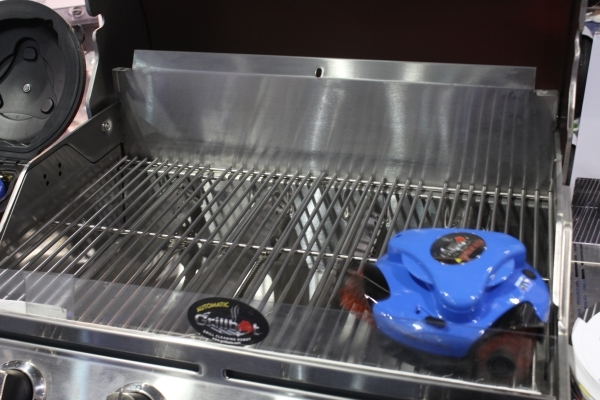 The Grillbot is designed to take the work out of cleaning a grill. (Michael Lyle/Las Vegas Review-Journal)