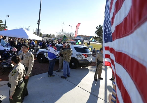 Peace officers from different agencies meet with members of the public during Law Enforcement Appreciation Day at Police Memorial Park in Las Vegas on Saturday, Jan. 9, 2016. Brett Le Blanc/Las Ve ...