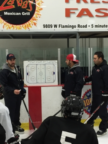 Nick Robone (Associate Head Coach)- left Anthony Vignieri Greener (Head Coach) - middle Zee Khan (General Manager) - Right