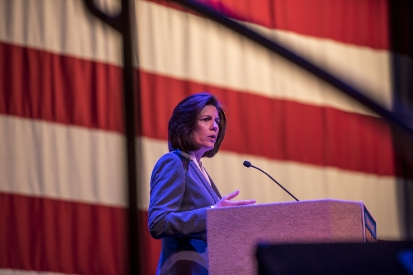 Catherine Cortez Masto, a Democratic candidate for U.S. Senate, speaks during the Nevada Raising Wages Summit at the College of Southern Nevada Cheyenne Campus on Tuesday, Jan. 12, 2016. Joshua Da ...