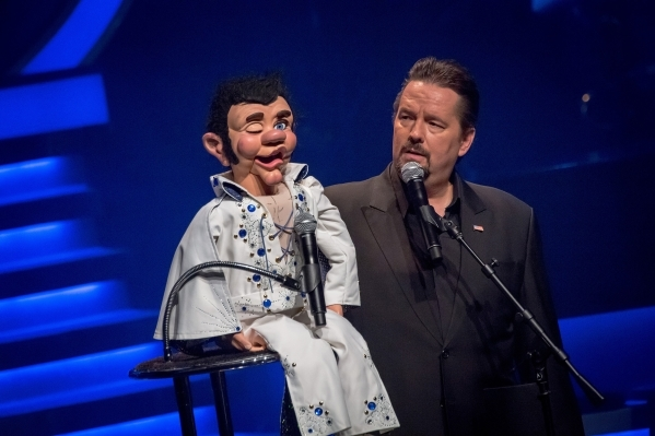 Terry Fator performs with Maynard at The Mirage. (Courtesy photo)