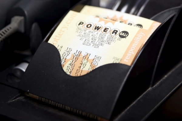 Powerball lottery tickets are seen at Bluebird Liquor in Hawthorne, Calif. (Lucy Nicholson/Reuters)