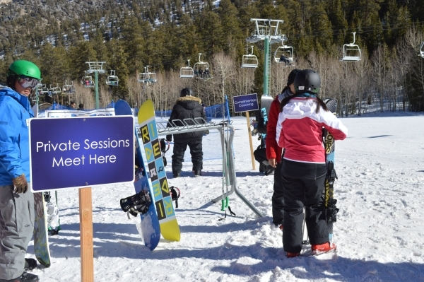 Snowboarders wait for lessons at Lee Canyon Ski and Snowboard Resort. January is Learn to Ski & Snowboard Month. BEYOND VEGAS/COURTESY PHOTO