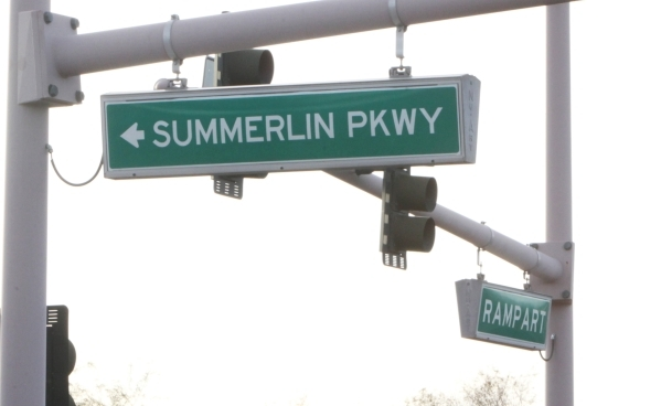 A woman was killed Wednesday, Jan. 13, 2016 on Summerlin Parkway near Rampart Boulevard, after her vehicle went off the road and overturned. The driver who was not wearing a seatbelt, was ejected  ...