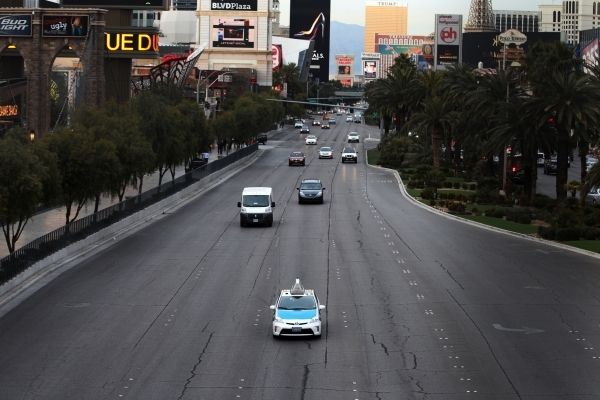 A taxi cab drives south on Las Vegas Boulevard near Tropicana Avenue Wednesday, Jan. 13, 2016, in Las Vegas. Erik Verduzco/Las Vegas Review-Journal Follow @Erik_Verduzco