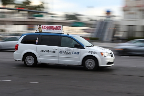 A taxi cab drives west on Tropicana Avenue near Las Vegas Boulevard Wednesday, Jan. 13, 2016, in Las Vegas. Erik Verduzco/Las Vegas Review-Journal Follow @Erik_Verduzco
