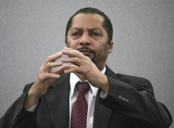 Otis Holland, a former pastor accused of sexually assaulting young girls, testifies in his own defense at Regional Justice Center, 200 Lewis Avenue on Wednesday, Jan. 13, 2016.  Jeff Scheid/Las Ve ...