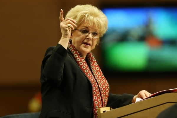 Las Vegas Mayor Carolyn Goodman delivers the annual State of the City address at Las Vegas City Hall on Thursday, Jan. 7, 2016, in Las Vegas. Erik Verduzco/Las Vegas Review-Journal Follow @Erik_Ve ...