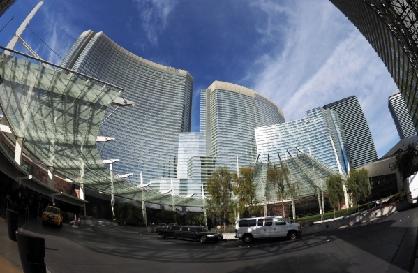 Aria hotel-casino is seen on the Las Vegas Strip on Thursday, Jan. 14, 2016, in a photo taken with a fisheye lens. Jerry Henkel/Las Vegas Review-Journal