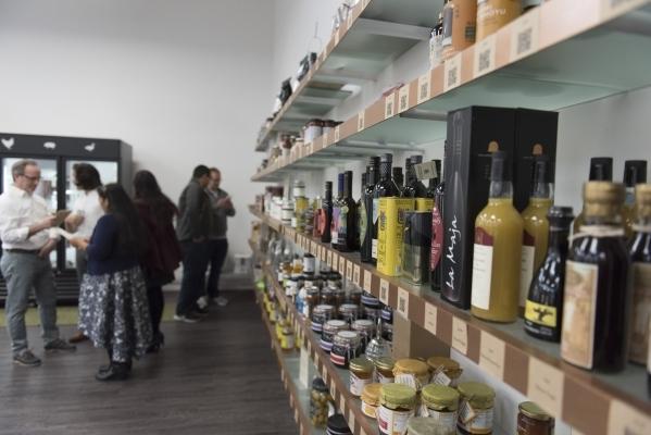 People mingle in the retail area of Artisanal Foods at 2053 E. Pama Ln. in Las Vegas on Saturday, Jan. 16, 2016. Jason Ogulnik/Las Vegas Review-Journal