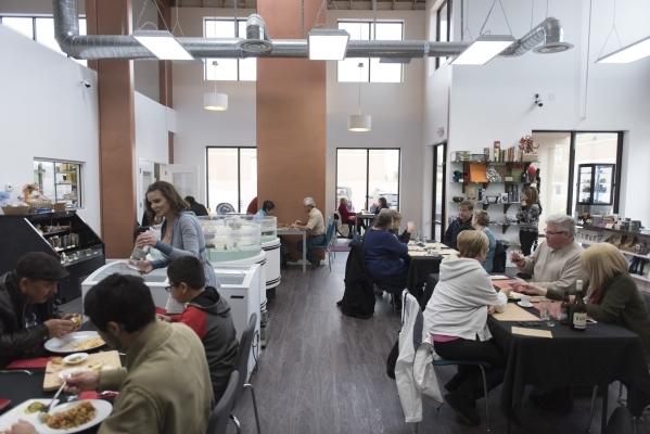 Patrons dine at Artisanal Foods at 2053 E. Pama Ln. in Las Vegas on Saturday, Jan. 16, 2016. Jason Ogulnik/Las Vegas Review-Journal