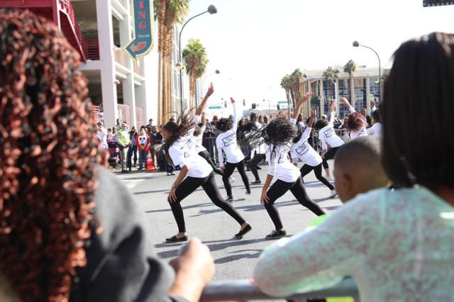 Crowds watch the Martin Luther King Jr. Parade in Downtown Las Vegas Monday, Jan. 18, 2016. Rachel Aston/Las Vegas Review-Journal Follow@rookie__rae