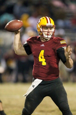 Quarterback Johnny Stanton completed 63 percent of his passes for 3,471 yards and 27 touchdowns and rushed for 752 yards and 12 TDs last season for Saddleback College. COURTESY