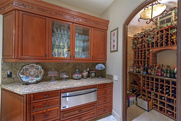 There is a small wine cellar off the kitchen. COURTESY