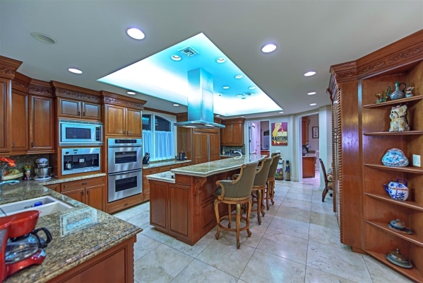 The home's kitchen. COURTESY