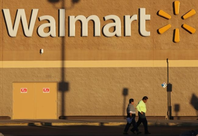 A couple walks back to their car at the Walmart in North Las Vegas on Friday, Jan. 15, 2016. Walmart is closing 269 stores worldwide, including the store at 4350 N. Nellis Boulevard. Brett Le Blan ...