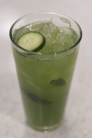 A Cucumber Mint drink is seen at Lyfe Kitchen at 140 S. Green valley Pkwy. in Henderson on Saturday, Jan. 16, 2016. Jason Ogulnik/Las Vegas Review-Journal