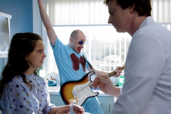 (L to R) Dr. Blake Downs (Rob Corddry) and Dr. Owen Maestro (Rob Huebel) save a child in the new season of Childrens Hospital. Season seven of Childrens Hospital premieres on Adult Swim on Friday, ...