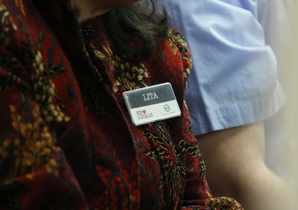 A Station Casinos employee attends a Gaming Control Board hearing at Grant Sawyer building Thursday, Jan. 21, 2016, in Las Vegas. The board signed off on Station Casinos becoming a public company  ...