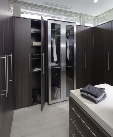 The master bedroom's closet. COURTESY